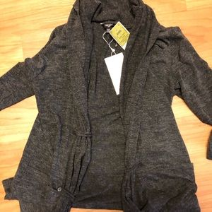 Sweaters - NWT grey charcoal cardigan